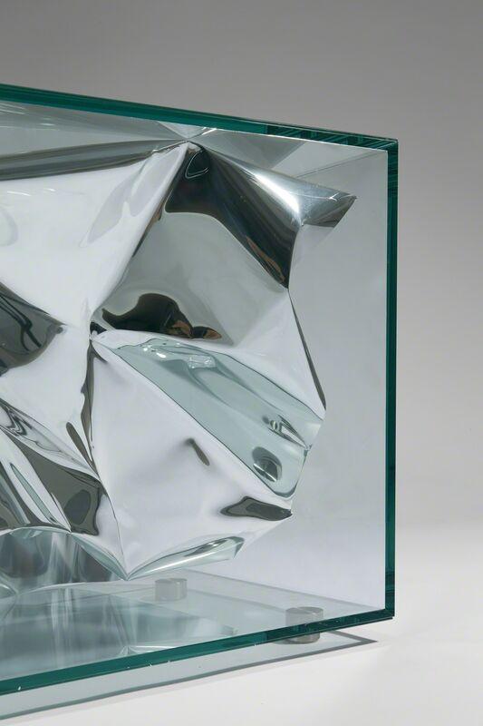 Fredrikson Stallard, 'Side Table' Silver Crush'', 2012, Design/Decorative Art, Glass, stainless steel, polished aliminium, David Gill Gallery