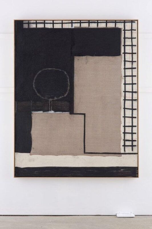 Matthew Burrows, 'Just-Is', 2014, Painting, Charcoal and acrylic on canvas and linen, Vigo Gallery