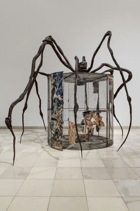 Louise Bourgeois, 'Spider', 1997, Sculpture, Steel, tapestry, wood, glass, fabric, rubber, silver, gold and bone, Guggenheim Museum Bilbao