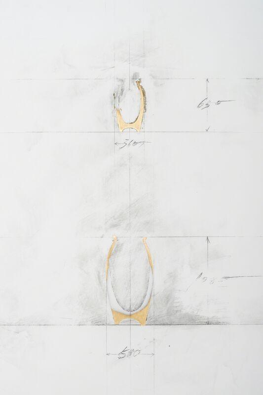"Toshikatsu Endo, 'Plan for ""Void""8# Double Pots', 2010, Sculpture, Putty, copper, pencil, SCAI The Bathhouse"