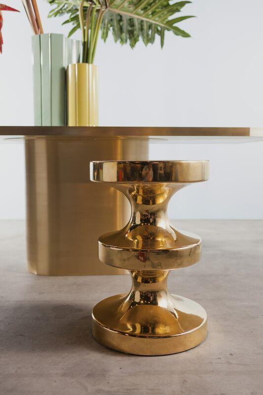 India Mahdavi, 'Bishop stool/side table', 2004, Design/Decorative Art, Pure gold finish on enameled ceramic, Carwan Gallery