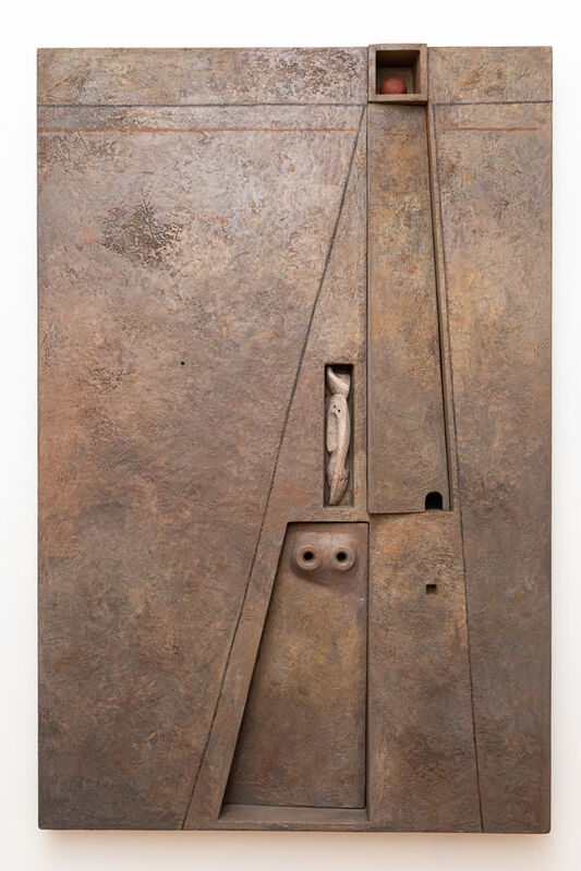 Marcelo Bonevardi, 'Enclosure Wall II', 1968, Painting, Acrylic on textured substrate on wood construction, painted wood assemblage, and carving, Leon Tovar Gallery