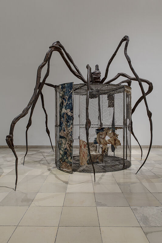 Louise Bourgeois, 'Spider', 1997, Installation, Steel, tapestry, wood, glass, fabric, rubber, silver, gold and bone, Song Art Museum