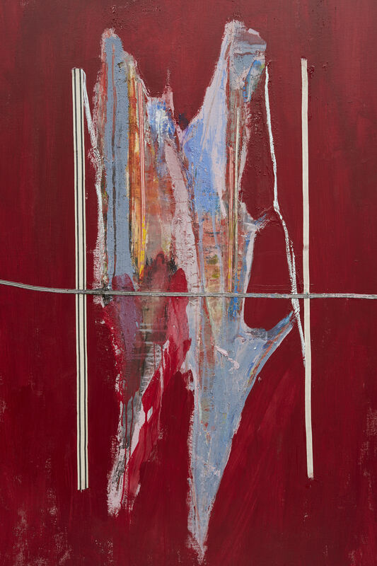 Erik Lindman, 'Tamarack', 2021, Painting, Acrylic and collaged cotton webbing and tarlatan on linen, Peter Blum Gallery