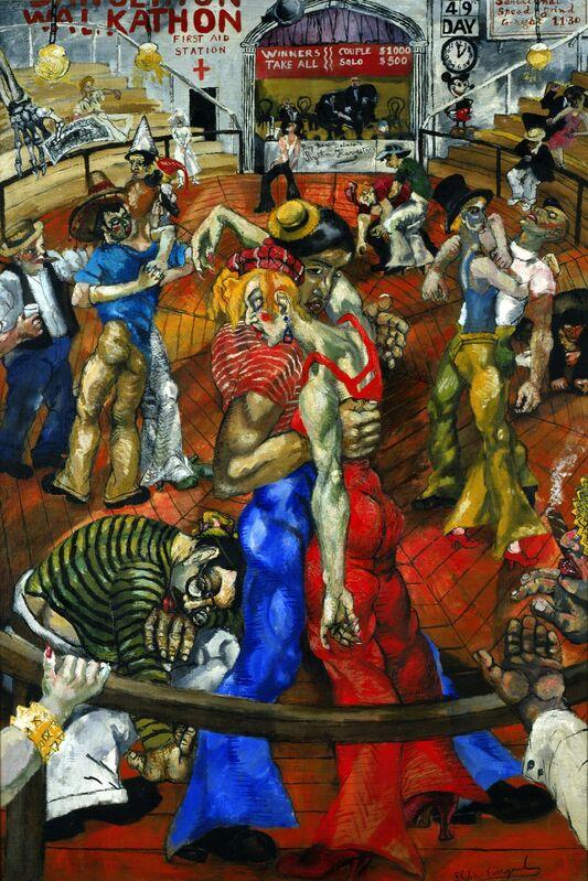 Philip Evergood, 'Dance Marathon', 1934, Painting, Oil on canvas, Blanton Museum of Art