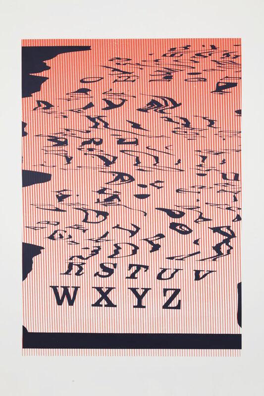 Matt Keegan, 'WXYZ', 2013, Print, Silkscreen on primed linen, unique, Altman Siegel