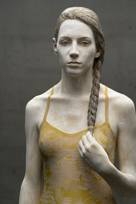 Bruno Walpoth, 'Veronica con treccia', 2016, Sculpture, Linden wood, Accesso Galleria