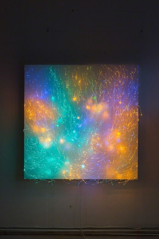 Astrid Krogh, 'Meadow', 2013, Design/Decorative Art, Optic fibres, light monitors, aluminium, Galerie Maria Wettergren