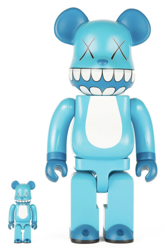 KAWS, 'CHOMPERS BE@RBRICK 400% AND 100% (SET OF TWO)', 2003, Sculpture, Painted Plastic, Marcel Katz Art