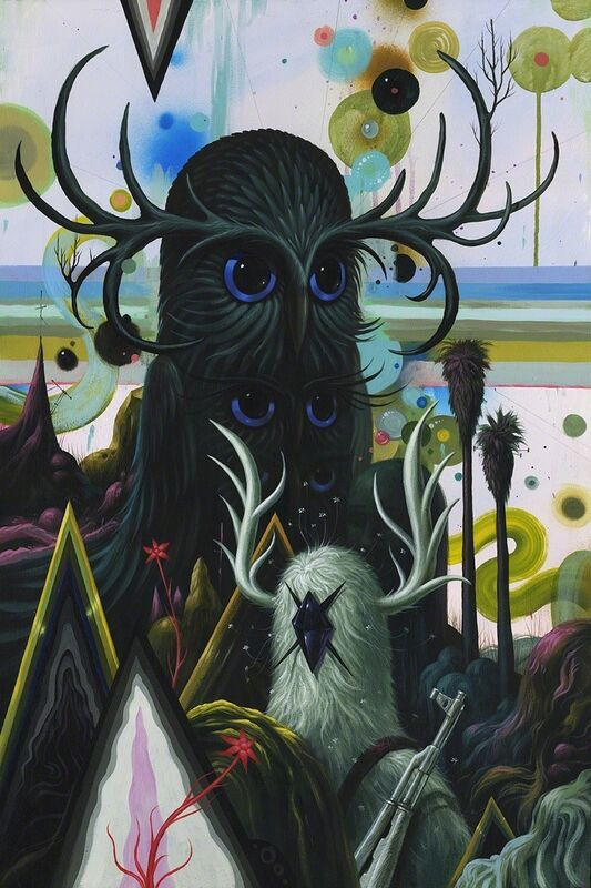 Jeff Soto, 'Keeper of the Gardens', 2015, Painting, Acrylic and archival spray paint on cradled wood panel, KP Projects