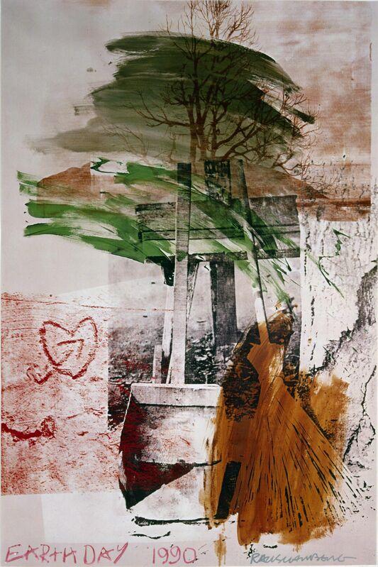 Robert Rauschenberg, 'Earth Day', 1990, Print, Silkscreen in twenty-three colors, Hamilton-Selway Fine Art
