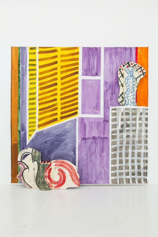 Betty Woodman, 'Finestra con Persiane', 2009, Installation, Glazed earthenware, canvas, acrylic paint, Nina Johnson