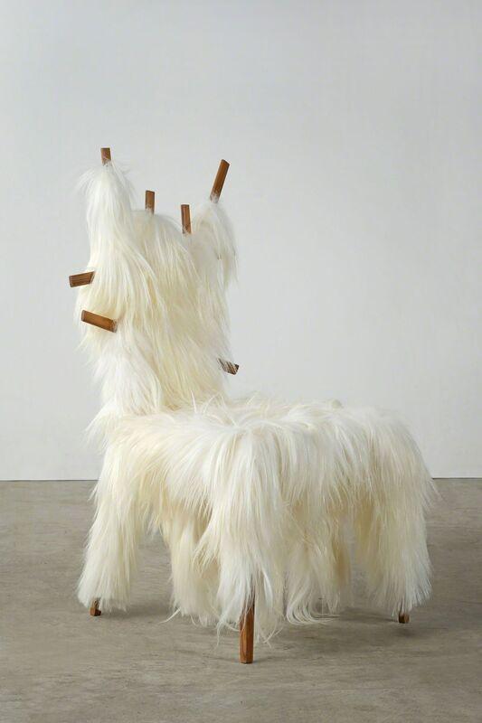 Humberto and Fernando Campana, 'Kidassia Chair', 2013, Design/Decorative Art, Teak wood and kidassia goat fur, Giustini/Stagetti Galleria O. Roma