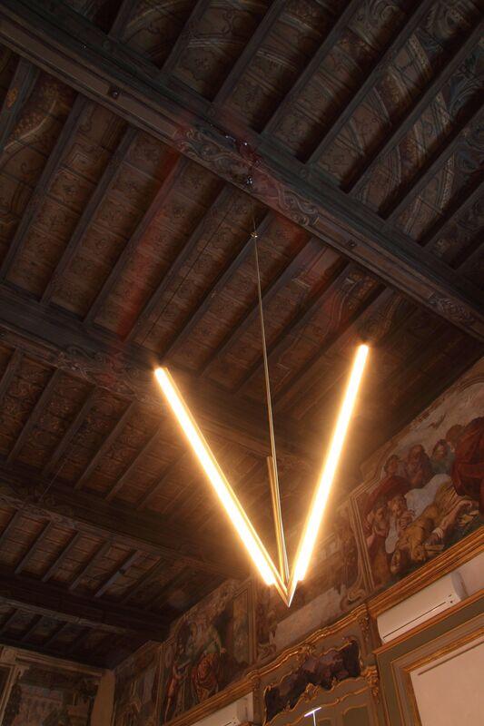 Michael Anastassiades, 'Lit Lines, Pendant Light 2', 2011, Design/Decorative Art, Satin or patinated brass, Nilufar Gallery