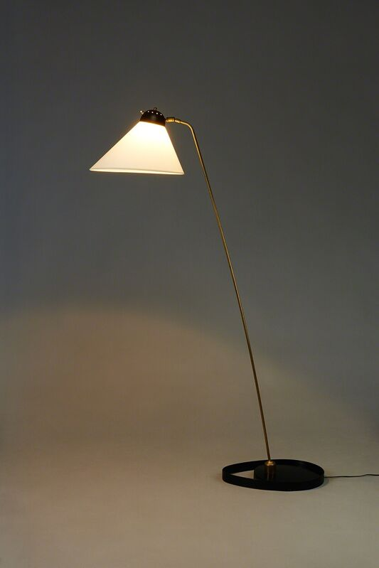 Gustave Gautier, 'Floor lamp 183', 1954, Design/Decorative Art, Lacquered metal, polished brass and paper lampshade, Galerie Pascal Cuisinier