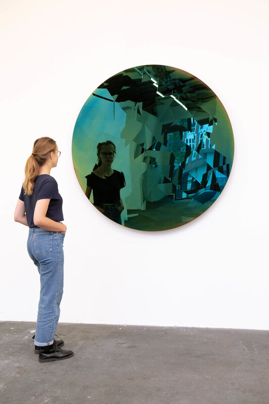 Jeppe Hein, 'World in Your Eyes', 2019, Sculpture, High polished stainless steel, motor, control technique, KÖNIG GALERIE