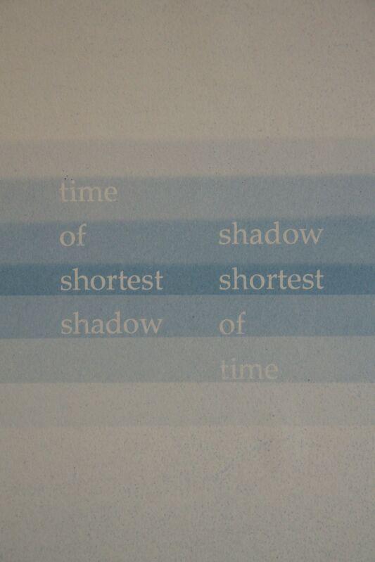 François Bucher, 'The shortest shadow', 2016, Photography, Blueprint, Alarcón Criado