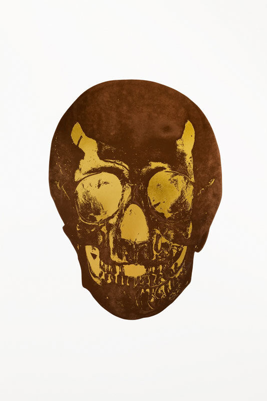 Damien Hirst, 'The Dead (Chocolate Oriental Gold Skull)', 2009, Print, Foil block print in colors on Arches archival paper, Lougher Contemporary