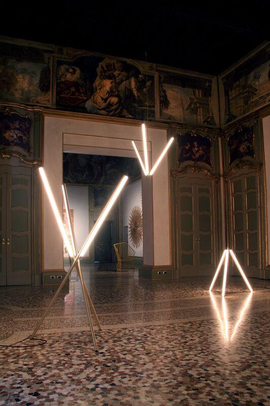 Michael Anastassiades, 'Lit Lines, Floor Light 2', 2011, Design/Decorative Art, Satin or patinated brass, Nilufar Gallery