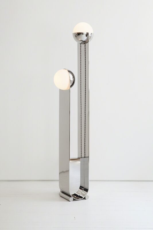 Egg Collective, 'Pete & Nora Floor Lamp', Contemporary, Design/Decorative Art, Stainless Steel, Hand-Blown Glass, Egg Collective