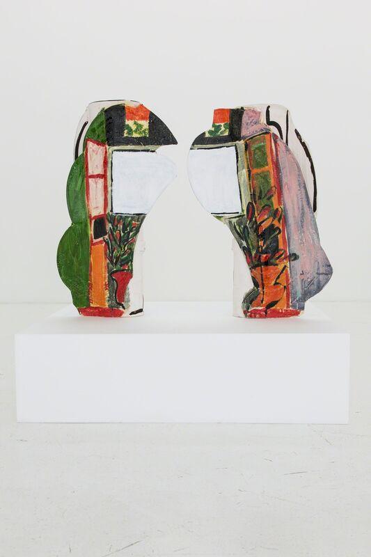 Betty Woodman, 'Divided Vases: Window', 2012, Sculpture, Glazed earthenware, epoxy resin, laquer, paint, Nina Johnson