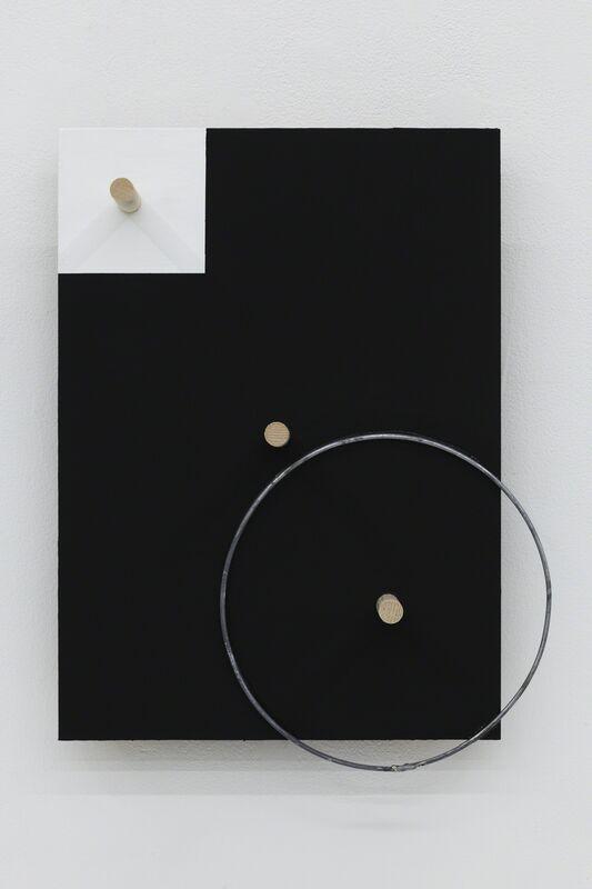 Kishio Suga, '中心相間 Correlative Centers', 2014, Wood, acrylic, wire, Tomio Koyama Gallery