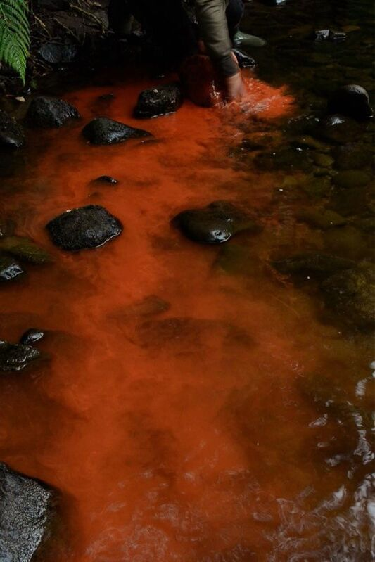 Andy Goldsworthy, 'Red river rock, Dumfriesshire, Scotland, 19 August 2016', 2016, Video/Film/Animation, Digital video, color, sound. Running time: 9:44, Galerie Lelong & Co.