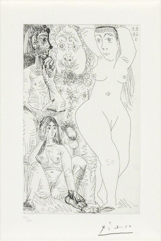 Pablo Picasso, 'Les Modes Changent: Deux Couples (B. 1556)', 1968, Print, Etching, on wove paper, Doyle