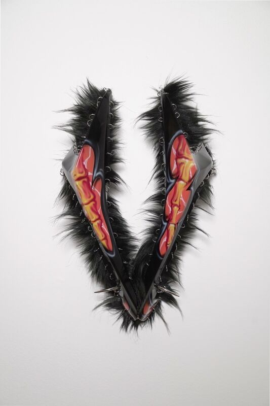 Yngvild Saeter, 'Redux', 2019, Sculpture, Part of Honda CBR1000RR 08-11 fairings, fake fur, piercings and studs., Andréhn-Schiptjenko