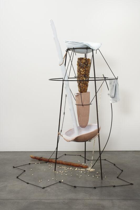 Tunga, 'The Bather', 2014, Sculpture, Iron, steel, resin, ceramics, plaster, and cotton paper, Fondation Phi