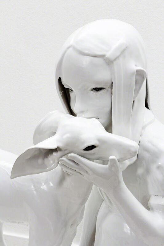 Kim Simonsson, 'Sacrificial Deer', 2015, Sculpture, Ceramic and glass, Jason Jacques Gallery