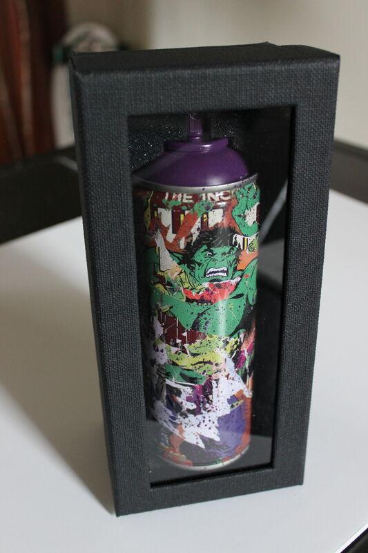 Mr. Brainwash, 'Hulk Spraycan Purple', 2019, Sculpture, Mixed media on spray can, EHC Fine Art