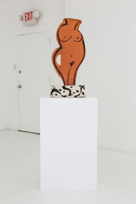 Betty Woodman, 'Polka Dot', 2012, Sculpture, Glazed earthenware, epoxy resin, lacquer, acrylic paint, concrete, Nina Johnson