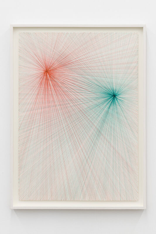 Ignacio Uriarte, 'Two Light Beams (Red and Green)', 2017, Drawing, Collage or other Work on Paper, Pigmented ink on paper, Nogueras Blanchard