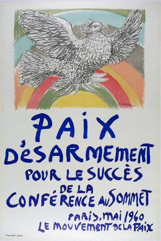Pablo Picasso, 'Paix D'esarmement', 1960, Print, Original vintage lithographic poster, michael lisi / contemporary art