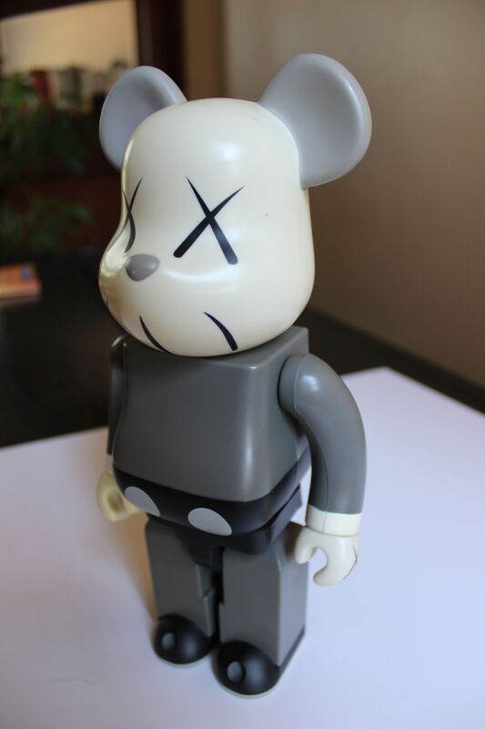 KAWS, '400% Gray Bearbrick ', 2002, Sculpture, Plastic, EHC Fine Art