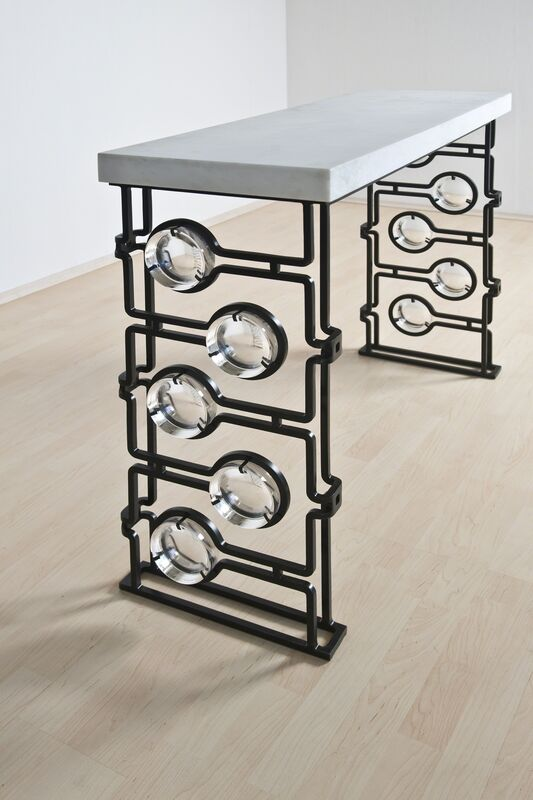 Christophe Côme, 'Console', 2012, Design/Decorative Art, Iron, glass and Nabimian marble, Cristina Grajales Gallery