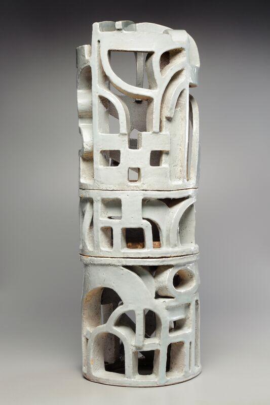 Eric Knoche, 'Column ', 2019, Sculpture, Stoneware with slip and glaze, Maria Elena Kravetz