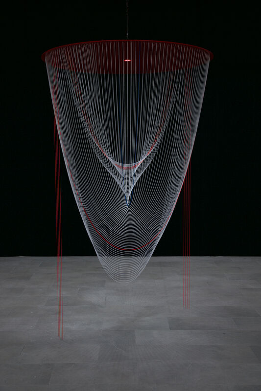 Zilvinas Kempinas, 'Nautilus', 2021, Installation, Aluminum, brass, resin, enamel, acrylic, motor, timer, LED light, bitforms gallery