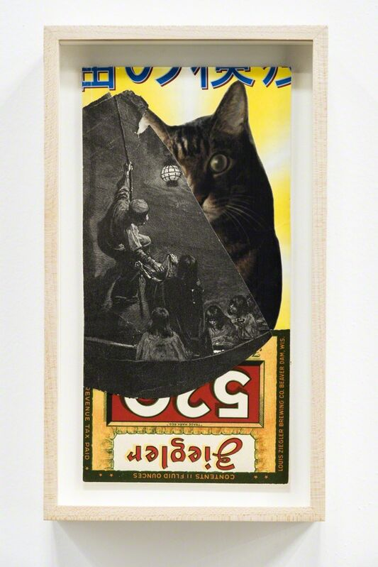 C.K. Wilde, 'Cat's Eye', 2014, Drawing, Collage or other Work on Paper, Ephemera collage on museum board, framed, Rosamund Felsen Gallery