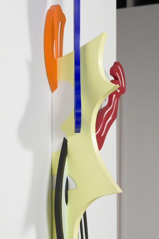 Roy Lichtenstein, 'Brushstroke II', 1986, Sculpture, Hand painted cherry wood sculpture, Helwaser Gallery