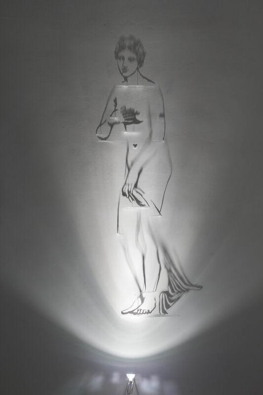 Fabrizio Corneli, 'Venere Palazzo Massimo', 2019, Installation, Cut and painted brass, halogen lamp, Studio Trisorio