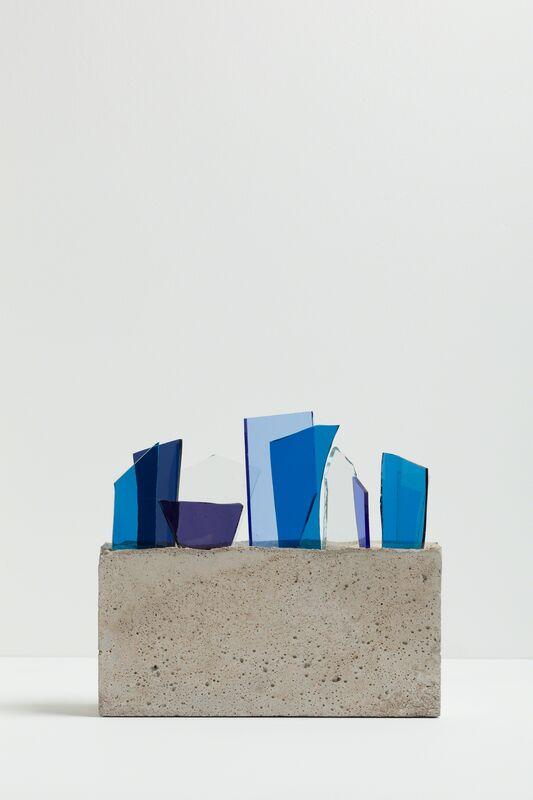 David Batchelor, 'Concreto 1.0h / 04', 2013, Sculpture, Concrete and coloured glass, Ingleby Gallery