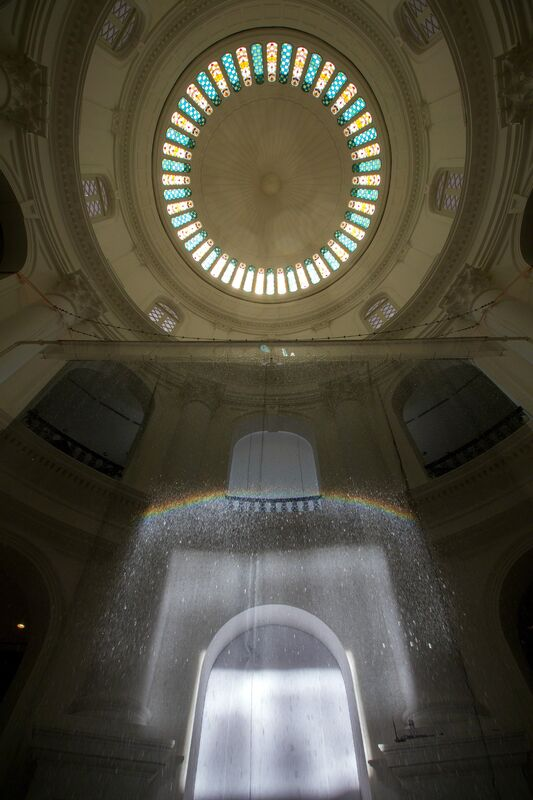 Suzann Victor, 'Rainbow Circle: Capturing a Natural Phenomeno', 2013, Installation, Mixed media installation: sunlight, water droplets and modified solar tracker, Singapore Art Museum (SAM)