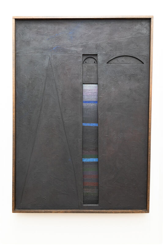 Marcelo Bonevardi, 'Stele', 1963, Painting, Acrylic on textured substrate on stitched canvas with cutouts on wood stretcher, painted wood element, Leon Tovar Gallery