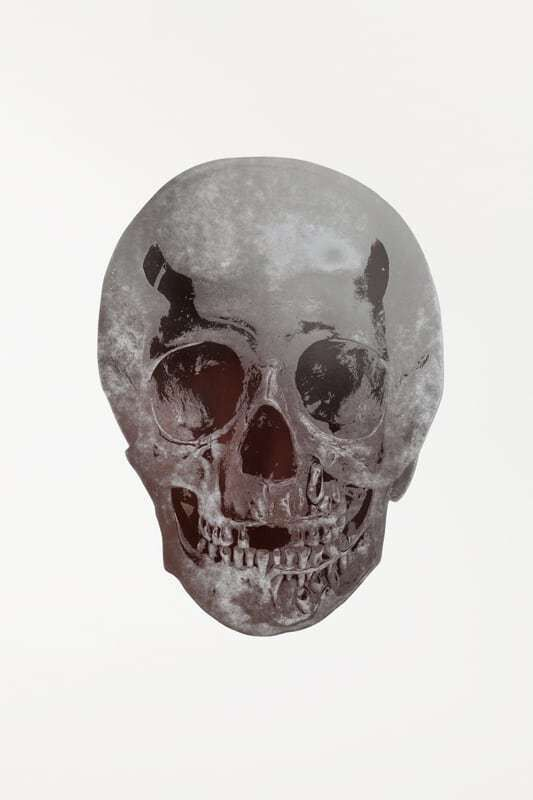 Damien Hirst, 'Silver Gloss/Chocolate Skull', 2009, Print, 2 colour foil back on 300gsm Arches 88 paper, Tate Ward Auctions