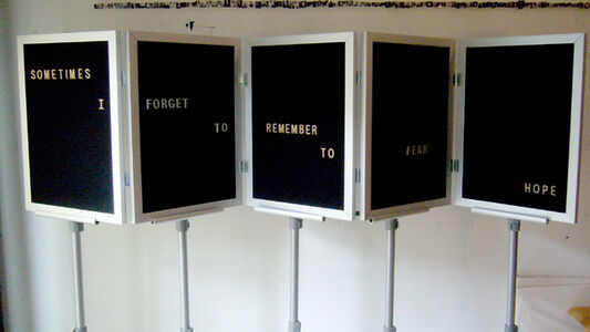 Jennifer Dalton, 'Sometimes I Forget to Remember to Fear Hope', 2008