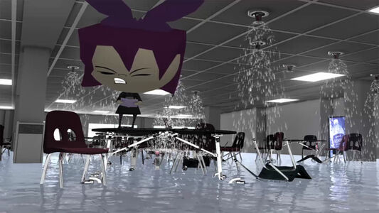 Bunny Rogers, 'Poetry reading in Columbine Cafeteria with Gazlene Membrane', 2014