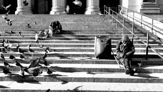 Leora Miller, 'Resting with Pigeons', 2018