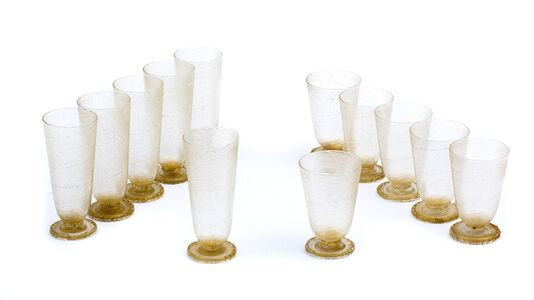 Barovier, 'Service of twelve glasses'